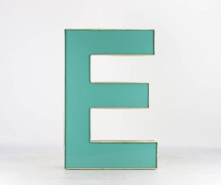 Metal Letters Vintage, Large Metal Letters, Metal Wall Letters, Metal Letter Decor, Metal Letter E, Old Metal Letters, Wall Letters, Letter by HuntandFound on Etsy