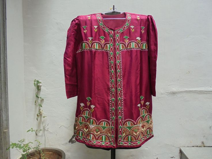 Vintage Hand Embroidered Silk Festival Kurti from India. by LallibhaiIndia on Etsy
