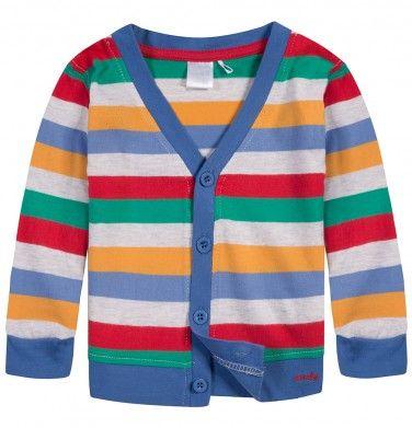 Ubranka dla niemowlaka: http://endo.pl/dla-niemowlaka Endo ubranka dla dzieci  Kardigan dzianinowy w paski dla niemowlaka N52C022_1
