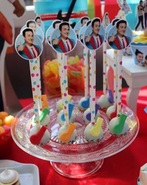 Cool cake pops at a music birthday party! See more party planning ideas at CatchMyParty.com!