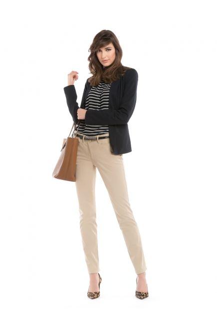 Camisole à rayures et pantalon étroit / Striped cami and skinny pants http://www.jacob.ca/look-524