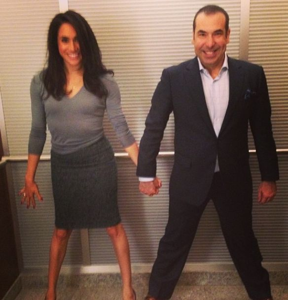 Meghan Markle and Rick Hoffman-- this team makes me smile