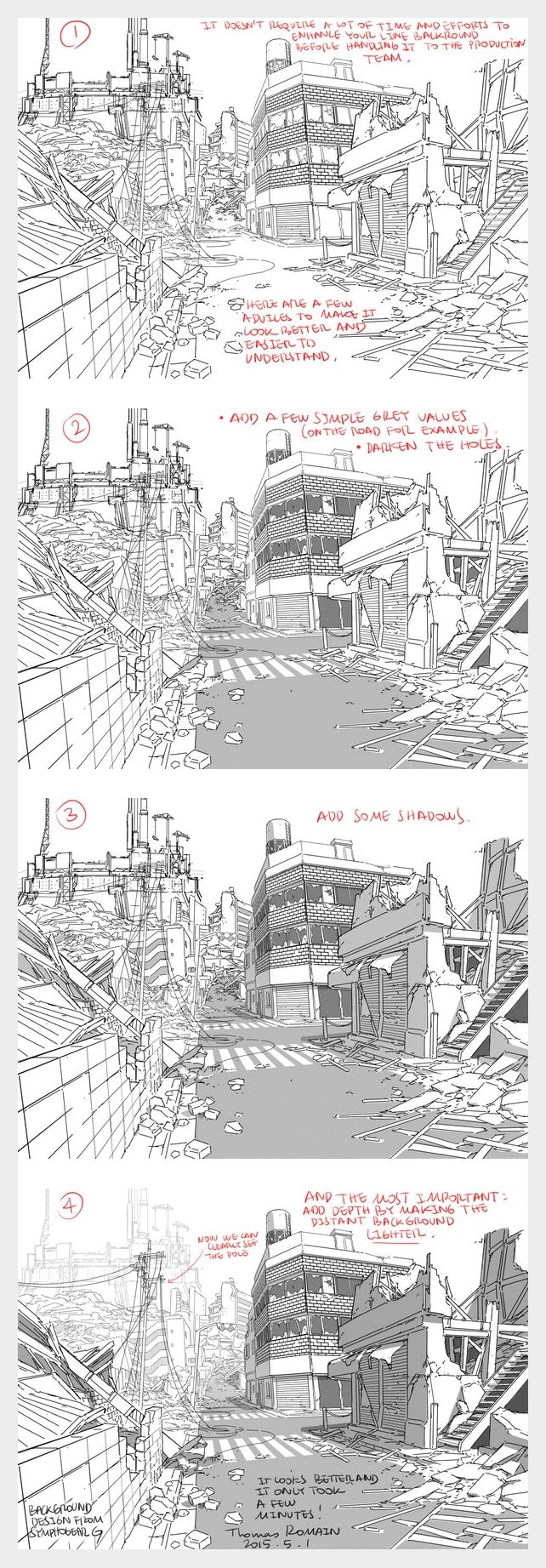 How to enhance a background - by Thomas Romain (one of the few foreigners working in the anime industry in Japan)
