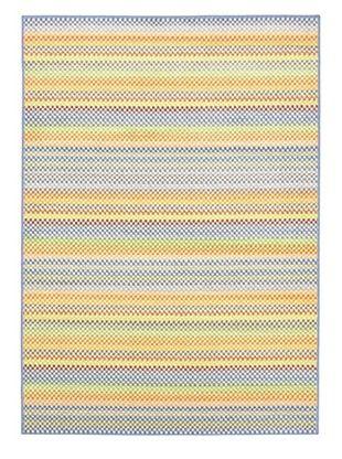 Ecarpetgallery Rugs Chroma Pastel Abstract Rug, Light Blue, 5' 5