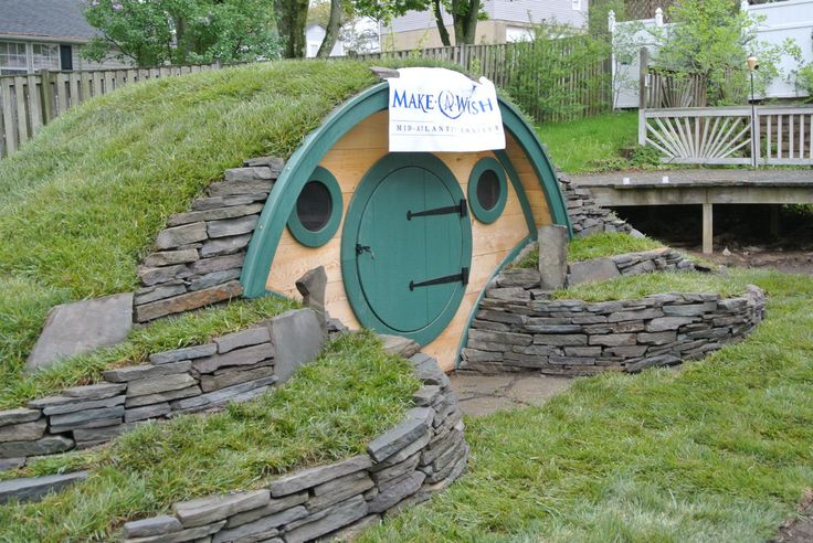 This one was done through the Make-a-Wish Foundation, which I love, but this is also the general idea for a future garden shed.