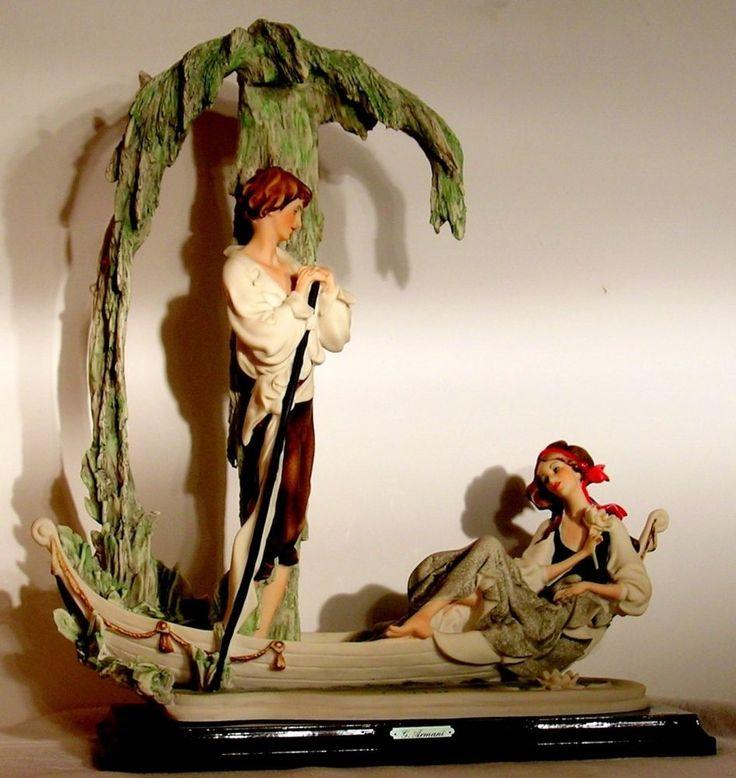 Capodimonte Giuseppe Armani Figurine Lovers Moss Boat