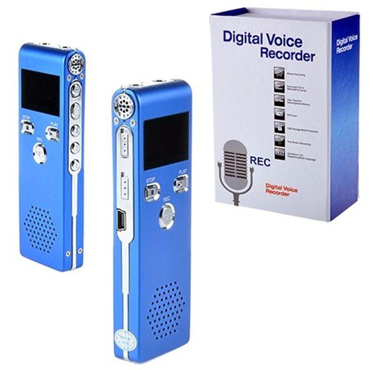 Fashion Sk-015 Blue 8G 650hr Digital Audio Voice Recorder Dictaphone  Player for Interview gravador de voz Meetings Interview