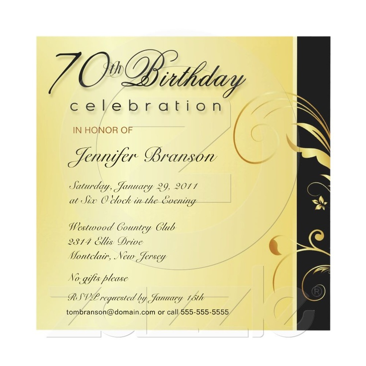 70 birthday invite