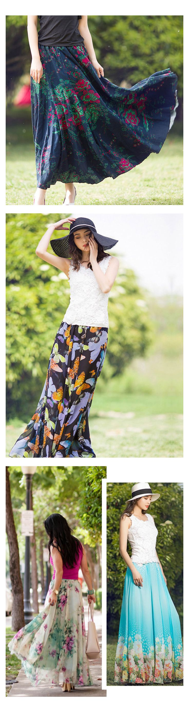 Women's Long Skirt, Slim & Stylish Styles
