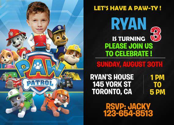 Paw Patrol Birthday Invitation From Printable Invitations