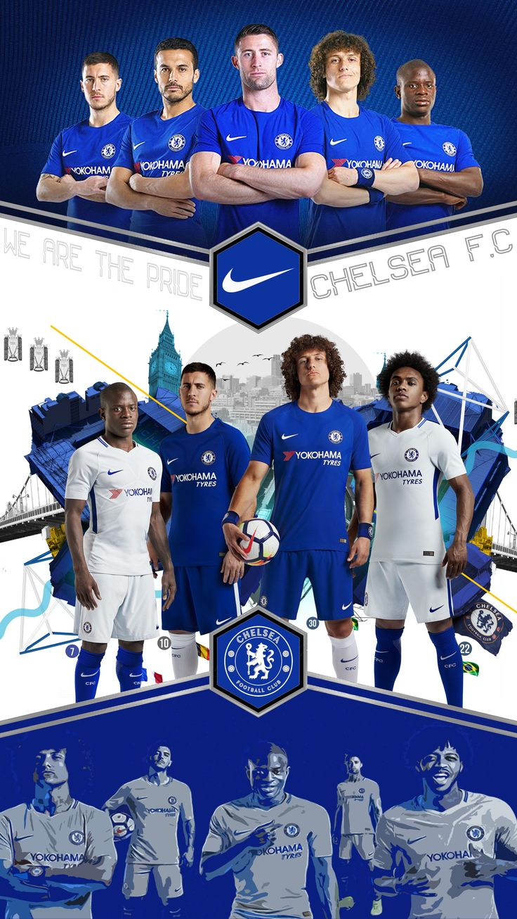 chelsea nike 2017 design by samuel mirpuri for lock screen or poster
