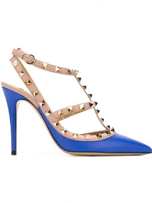 Electric Blue Valentino Rockstud Pumps #Scarpe #Blu #studs