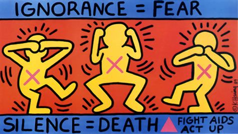 Keith Haring is among the most well-known artists with HIV/AIDS.