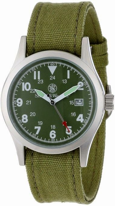 Smith & Wesson Men's SWW-1464-OD Military Multi Canvas Straps Watch $25.82 http://roksmu.blogspot.com/2014/07/army-watch.html