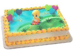 Baby Tweety Cake Topper by BethsCakeKitShop on Etsy