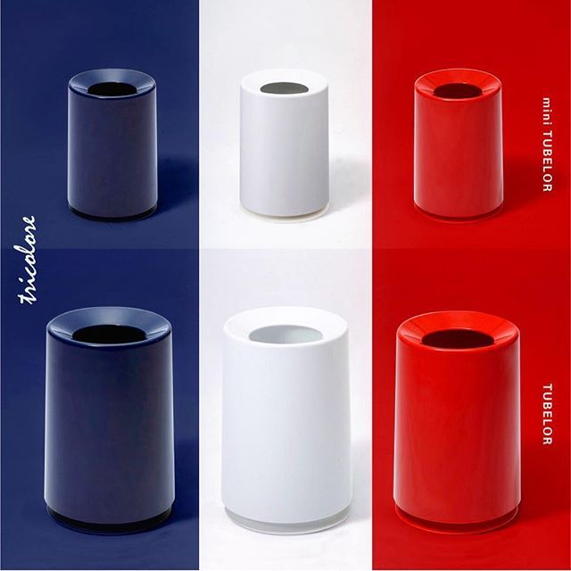 Trash Can / TUBELOR & mini TUBELOR tricolore color item #ideaco#desig #trashcan#jte #red#nav #interior#colo #stylish#coo #product#tricolor #french#phot #coordinate#france