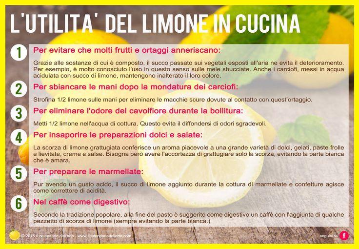 L'utilità del limone in cucina