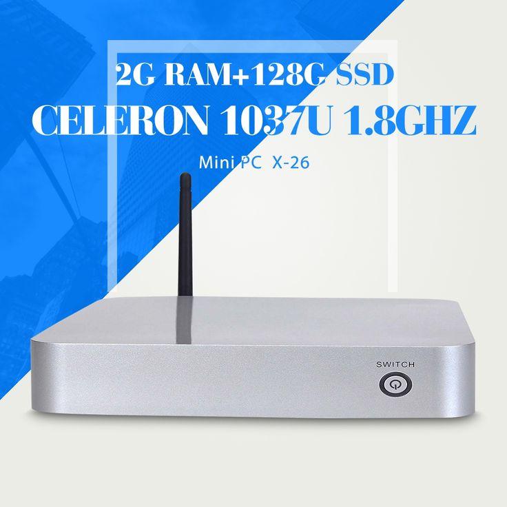 166.90$  Buy here - http://aidco.worlditems.win/all/product.php?id=1402890130 - Computer Dual Core CPU C1037U  Mini Desktop PC  C1037U Windows 8.1/7/Linux/Xp 4G/128G Thin Client
