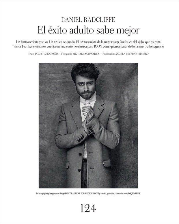 Дэниэл Рэдклифф в Icon El Pais (Интернет-журнал ETODAY)