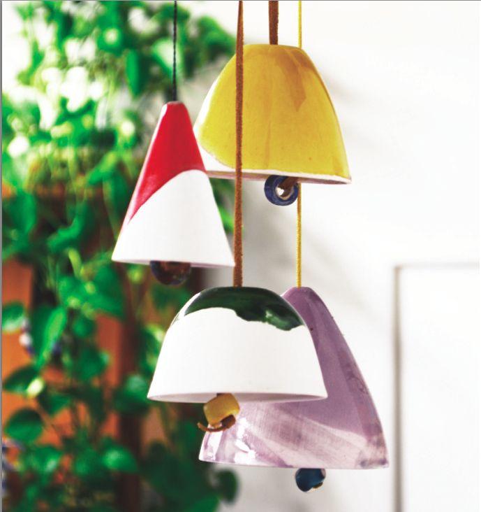 Campanelle di ceramic design by Atelier Daniela Levera, campanas de cerámica diseño made in italy, ceramic bell