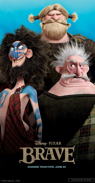 Pixar Brave Character Poster - Lords Macintosh, MacGuffin and Dingwall