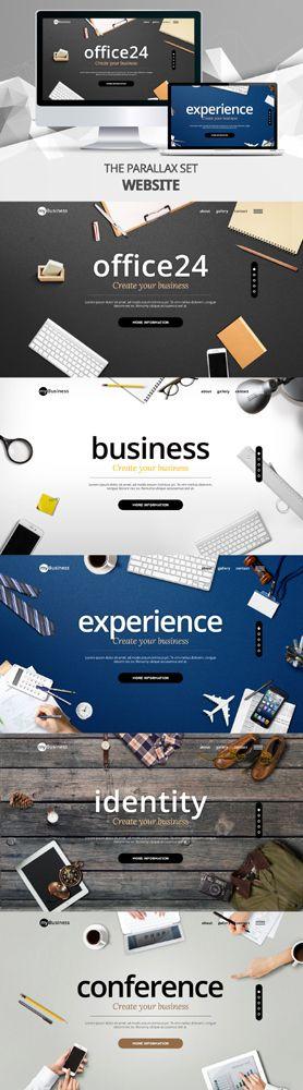 business template - iclickart #parallax