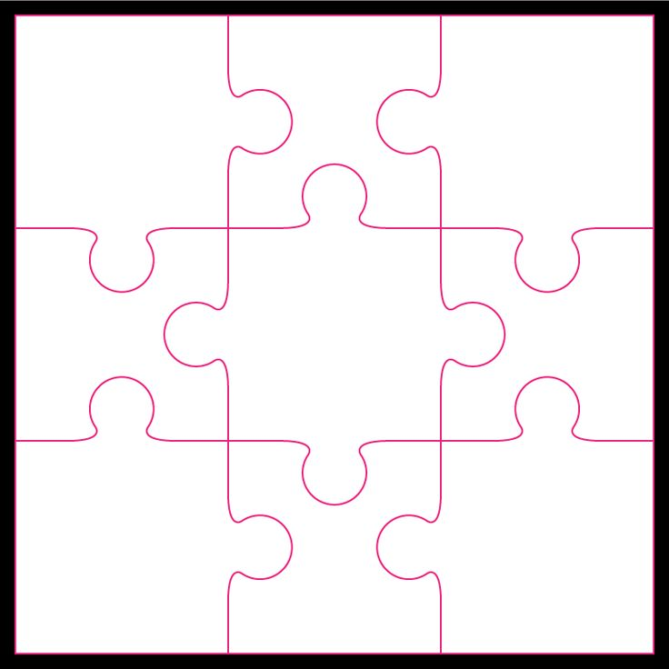 9 Piece Jigsaw By Bird Puzzle Piece Template Puzzle