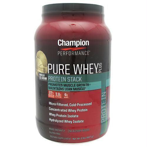 Champion Nutrition Pure Whey Plus Vanilla Ice Cream - Gluten Free