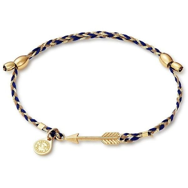 Alex And Ani Arrow Precious Threads Bracelet ($38) ❤ liked on Polyvore featuring jewelry, bracelets, gold, alex and ani charms, charm jewelry, charm bangles, knot bangle and knot jewelry
