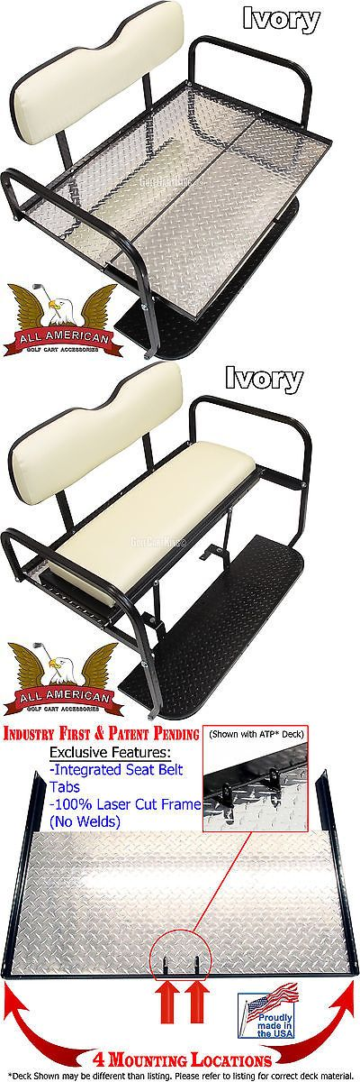 Push-Pull Golf Carts 75207: Yamaha G14,G16,G19 22 Golf Cart All American™ Rear Flip Back Seat Kit- Atp Deck -> BUY IT NOW ONLY: $269 on eBay!