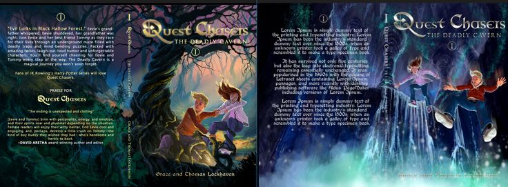 We need your help to choose! Which book cover do you guys like? Our illustrator was kind enough to do these two different versions of the book with the main characters, but we need your opinions. #questchasers