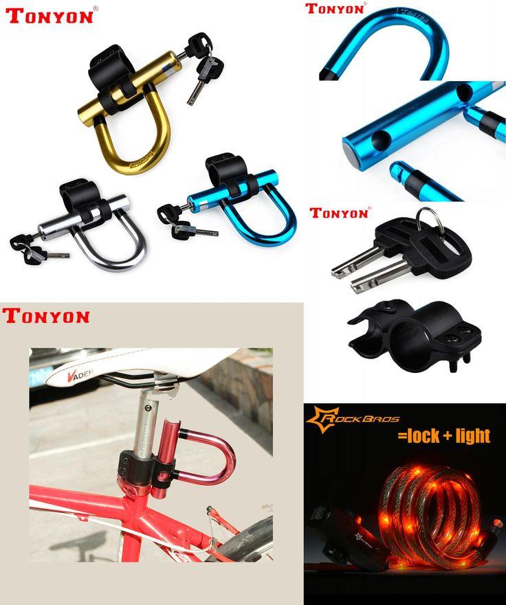 [Visit to Buy] Tonyon Anti-Theft Bicycle U-Lock Bike Lock On The Bike Candado Bicicleta Cadeado Bisiklet Kilidi U Lock Mtb Cycling Accessories #Advertisement