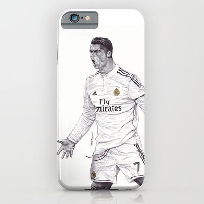 Cristiano Ronaldo PHONE CASES	/ IPHONE (5, 5S) SLIM CASE  DeMoose_Art (demoose21) CR7 Drawing by DeMoose_Art $35.00