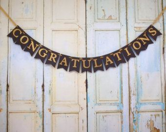 graduation party decorations graduation banner first by DCBannerDesigns   Etsy