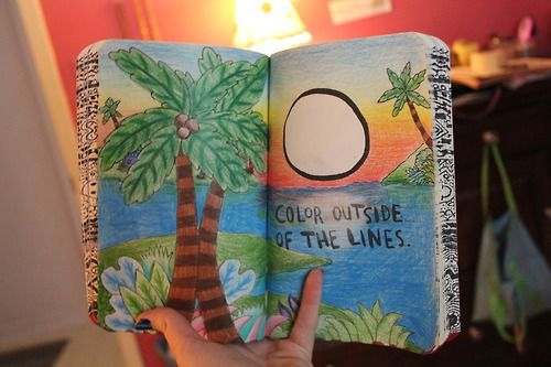 Most popular tags for this image include: wreck this journal, art and color