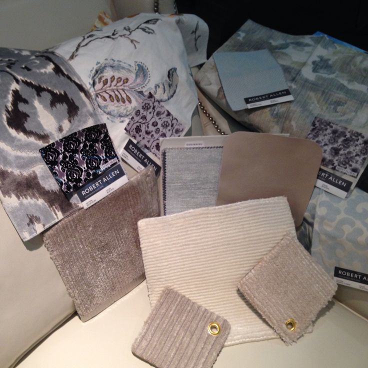 Creating and designing a living space with grey, taupe, creamy white and powder blue.