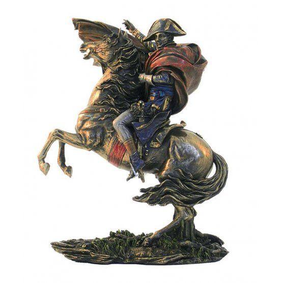 Statueta bronz Napoleon pe cal