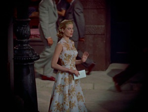 Grace Kelly, Orange floral dress, Rear window--love that dress and movie.: Rear Window Lov, Movies Show, Window 1954, Fashion Sketches, Grace Kelly Style, Fashion Film, Windows, Clothing Inspiration, Floral Dresses