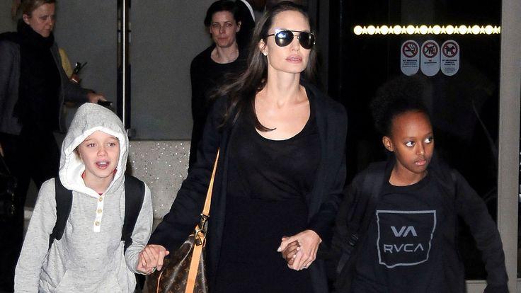 Angelina Jolie y sus hijos, Shiloh and Zahara Jolie Pitt