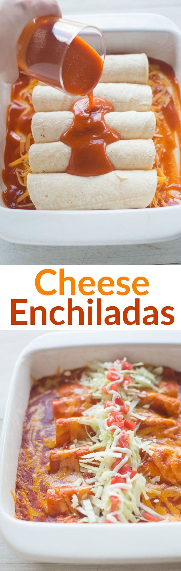 The BEST homemade Cheese Enchiladas! Our favorite authentic cheese enchiladas…