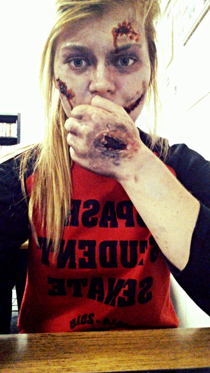 Zombie Makeup! Did this for Halloween. Cheap makeup kit from ...
