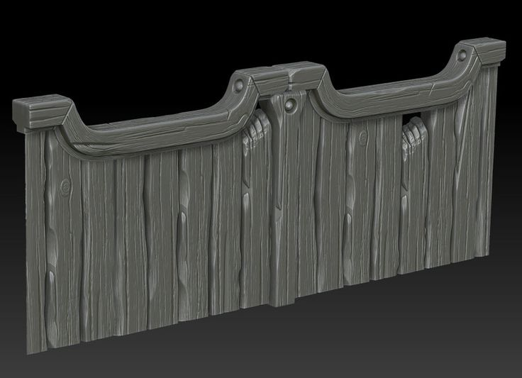 Wooden gate on Zbrush by ganooon on deviantART