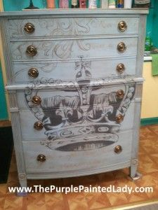 Louis Blue Dresser with hardware email