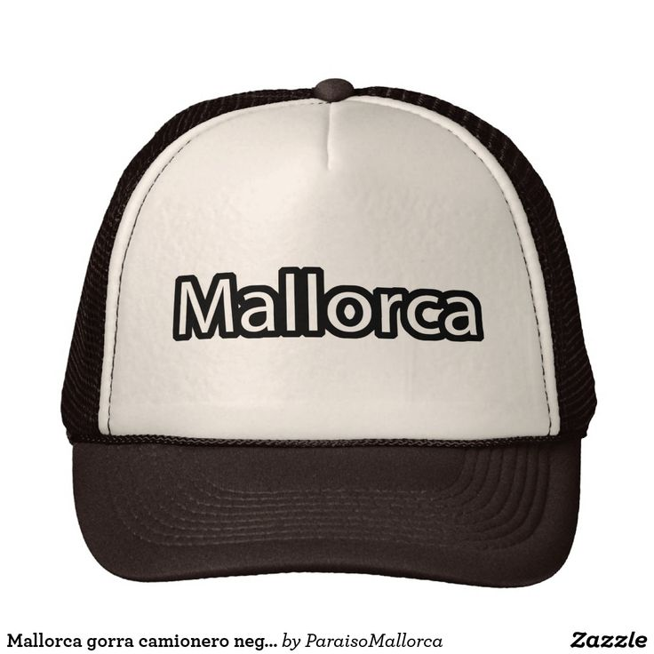 Mallorca gorra camionero negra