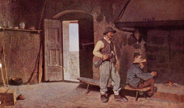 Giuseppe Abbati - Interno di una casa di boscaioli