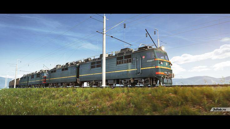 3DFAB. Modeling & render train VL80