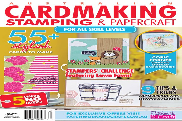 Cardmaking, Stamping & Papercraft - Volume 20 No.5. The leading destination for cards and papercrafts! Magazine Formats Included ePub Format, Mobi Format (Compatible with Amazon Kindle apps), Online Version or PDF Format.