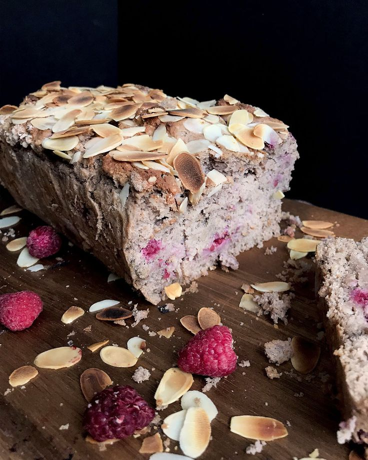 Almond Raspberry Loaf | Miss Walter's - Joyful vegan baking and kind living.