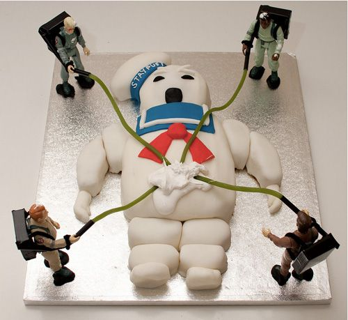 Ghostbusters cake  hahaha luv it!