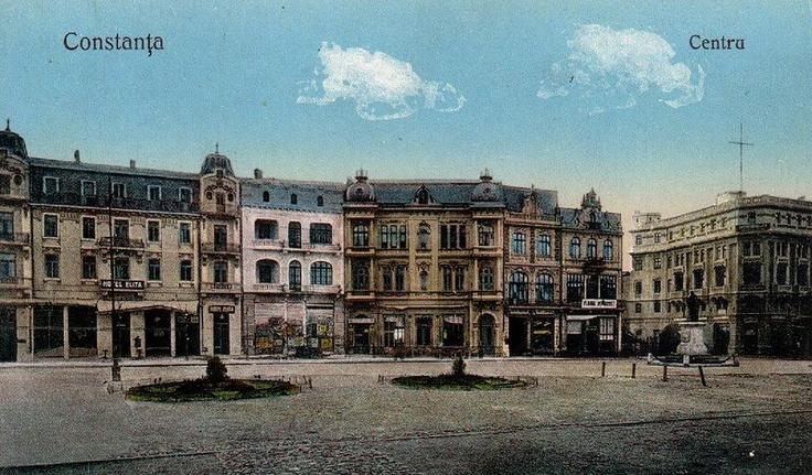 Constanta - Piata Ovidiu si casele Torosian - antebelica